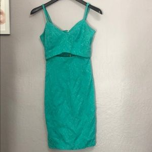 xoxo turquoise dress ... cut off middle